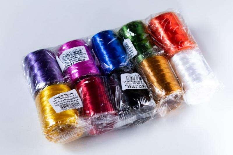 Fitilho plastico colorido